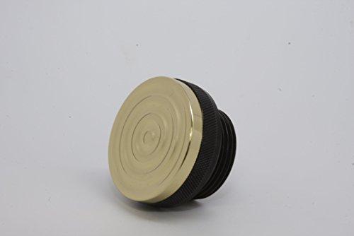 Speed Dealer Black and Brass Bullseye Oil Cap for 1-1/4