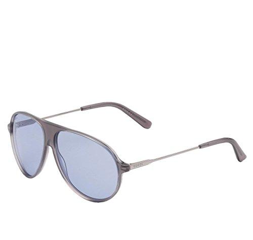 Gucci Unisex Gray Frame Blue Lens Aviator Sunglasses GG1649/s JJ376