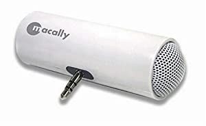 Macally Podwave Portable Stereo Speakers for iPod and MP3 Players (White)