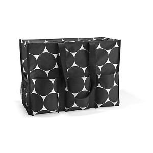 Thirty One Organizing Utility Tote Big Dot front-125198