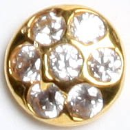 CZ Nose Stud - 18 K Gold