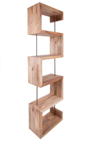 Funky Style Reclaimed Wood S Shape Tall Bookshelves Bookcases Made From Solid Recycled