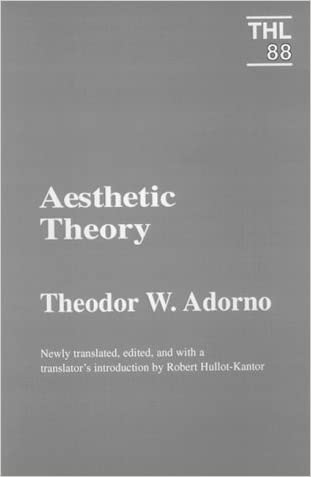 Aesthetic Theory (Theory and History of Literature)