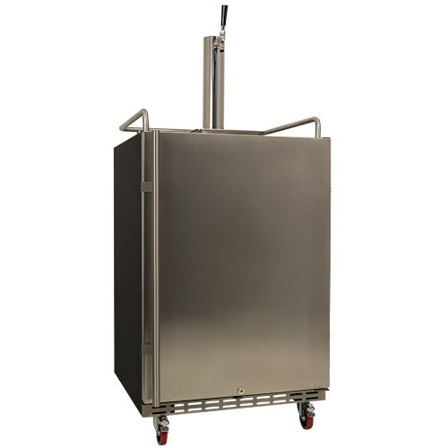 EdgeStar Full Size Built-In Kegerator - Black and Stainless Steel (Under The Counter Kegerator compare prices)