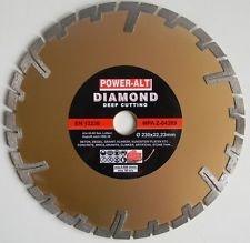 Diamant-Trennscheibe-230-mm-GRANIT-BETON-KLINKER-von-Power-Alt-fTiefenschnitt