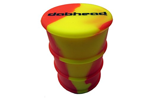 1 Large Silicone Drum Container Jar (Red/Yellow)