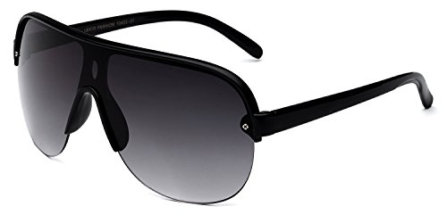 Oversized Flat Top Aviator Sunglasses Shield Men's Women's Retro 80's Vintage Glasses (Vintage Glasses 80 compare prices)