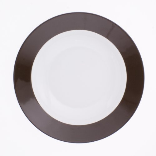 Pronto chocolate brown soup plate deep 8.66 inches