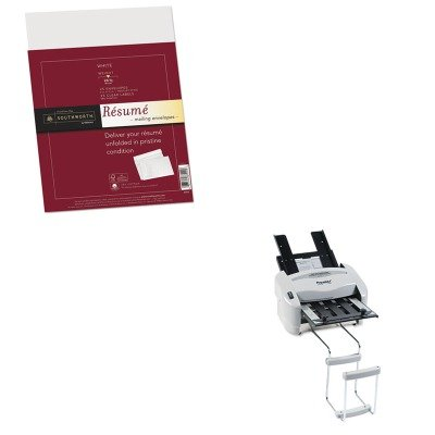 KITPREP7200SOURF6Q - Value Kit - Southworth 25% Cotton Resume Envelopes (SOURF6Q) and Martin Yale Model P7200 RapidFold Light-Duty Desktop AutoFolder (PREP7200) kitmmmc60stpac103637 value kit scotch value desktop tape dispenser mmmc60st and pacon riverside construction paper pac103637