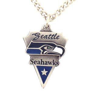 NFL Seattle Seahawks Traditional Chain Necklace at Amazon.com