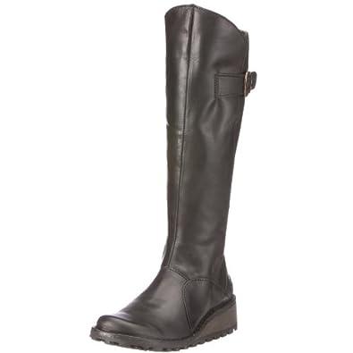 Fly London Women's Mol Boots, Black, 3 UK
