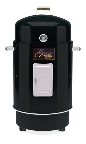 Brinkmann 852-7080-7 Gourmet Charcoal Smoker and Grill, Black