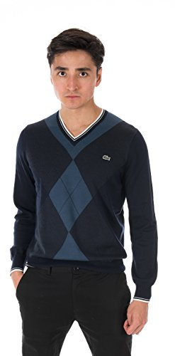 Lacoste TRICOT V-Neck Sweater NAVY BLUE/MIDNIGHT BLUE C AH3608-51-9FC