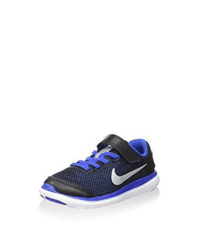 Nike Zapatillas Flex 2016 RN (PSV) Negro / Azul