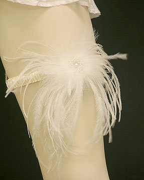 Ostrich Feather Bridal Garter