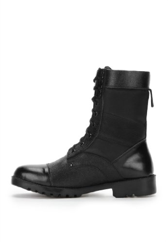 Armstar Men's Black Leather High Ankle Boots (Aa-Dms2) 7 UK