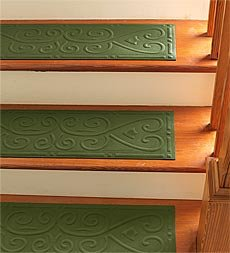 "Scroll Border Stair Treads, set of 4 8""W x 30""L"