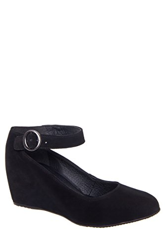 Romina Suede Round Toe Wedge