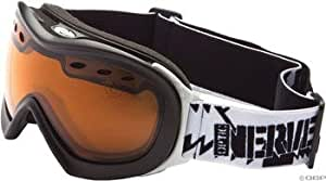 Optic Nerve Antero Goggle: Matte Black with Orange Lens
