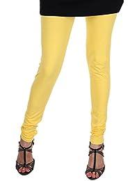 ITNOL Cotton Lycra Leggings (Pack Of 3 ): Yellow / Baby Pink / Black