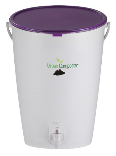 Urban Composter Kit - compost bin and accelerator spray - Purple