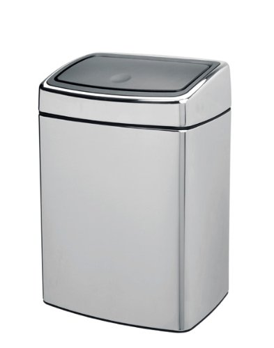 Brabantia Touch Bin, Rectangular, 10 Litre, Matt Steel Fingerprint Proof