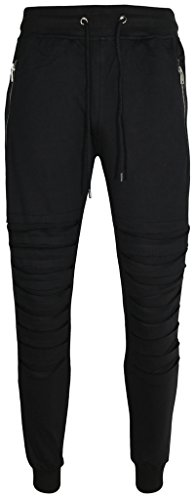 UPSCALE Mens Razor Cut French Terry Jogger Pants BLACK L (Terry Price Ware compare prices)