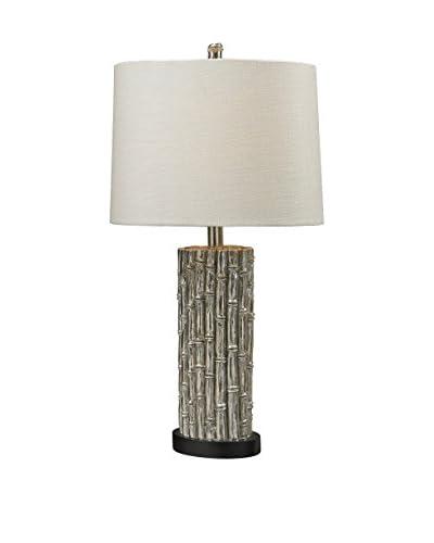Artistic Lighting Table Lamp, Silver Leaf