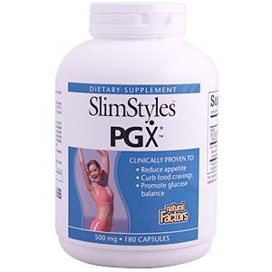 Natural Factors Slimstyles, PGX 500mg Capsules, 180-Count