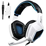 Latest Version Ps4 Headphones,Sades SA920 3.5mm Stereo Bass Gaming Headset with Microphone for New Xbox one PS4 PC Laptop Mac Xbox 360(Black White) (Color: SA920 Black White, Tamaño: SA920 Black White)