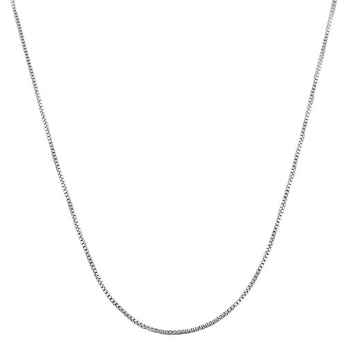 Sterling Silver 0.8-mm Venetian Box Chain