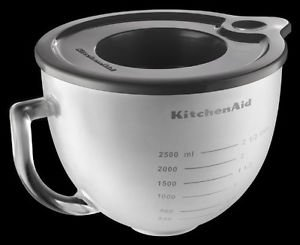 Kitchenaid Frosted Glass Bowl K5gbf for 5-qt Stand Mixers Side Measurement W/lid One Day Shipping Good Gift Fast Shipping