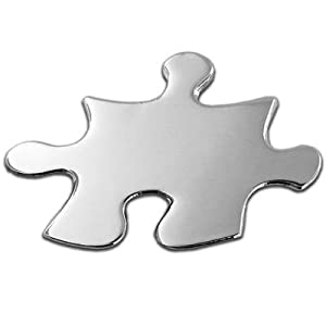 Silver Puzzle Piece Pin