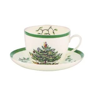 Spode Christmas Tree Teacup and Saucer