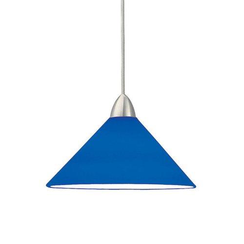 Wac Lighting Mp-Led512-Bl/Ch Jill 5W 12V 3500K Led Monopoint Pendant With Blue Art Glass Shade, Chrome Finish