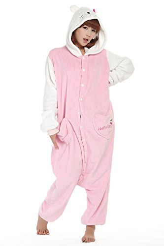 Pink Kitty Cat With White Sleeves Kigurumi Costume