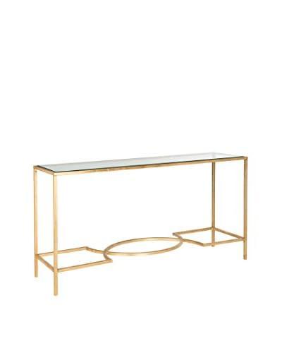 Safavieh Inga Console, Gold/Glass