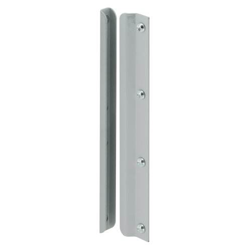 Prime-Line Products U 9513 Latch Shield, 12 in., Steel, Gray, In-Swinging Doors (Door Guard Plate compare prices)