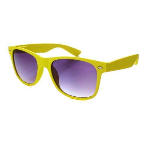 Kids Childrens Cute Wayfarer Sunglasses Soft Touch Age 3-10 Yellow
