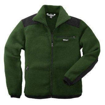 Taiga Men's Polartec-300 'Sport' Fleece Jacket (Size: S, Loden (Black Shoulders))