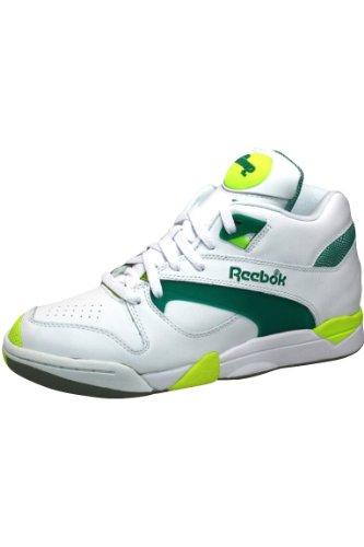 Reebok Court Victory Pump Tennis Shoe White Green Citron 8 M US Men S 9 5 M US Women S - Riia ...