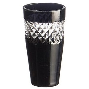 John Rocha Black Cut Shot Glasses 1.75oz / 50ml (Pack of 4)