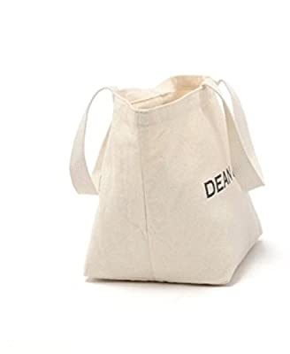 New York's Dean & Deluca Canvas Reusable Eco Friendly Shopping Grocery Tote Bag