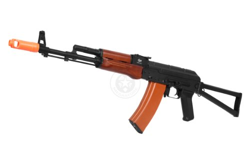 Jg Ak-74U Full Metal Electric Blowback Aeg Rifle W/ Side Folding Stock
