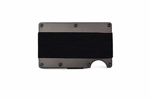 スマートフォンよりも薄い、小さい財布「the RIDGE(ザ・リッジ)」 アルミニウム ガンメタル キャッシュ ストラップ Aluminum Gunmetal Cash Strap(マネーバンド)