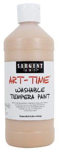 Sargent Art 22-3487 16-Ounce Art Time Washable Tempera, Peach