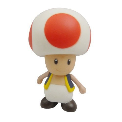 """Super Mario Bros 3.5"""" / 9cm Mini Toad Mushroom PVC Action Figures Doll Anime Collection Model Toy"""