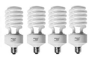 ASIN:B00198U6U6:ALZO Digital Full Spectrum Light Bulb - ALZO 45W Photo CFL 5500K 91 CRI, Daylight balanced, pure white light, 2800 Lumens, Case of 4