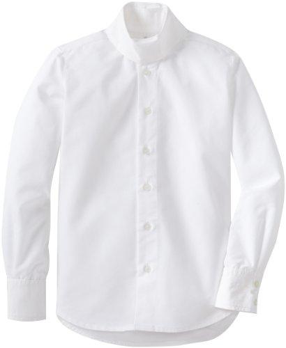 Tuffrider Girl'S Starter Long Sleeve Show Shirt, White, 12 front-27379