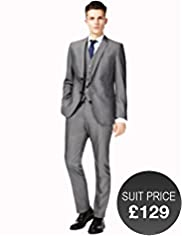 Limited Collection Slim Fit 2 Button Plain Jacket